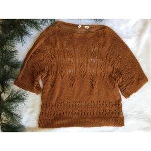 MOTH Burnt Orange Knit Top